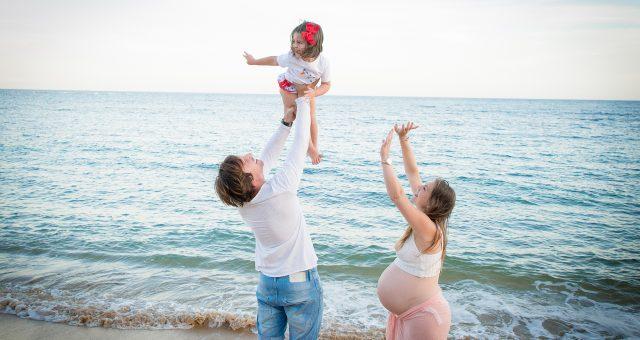 Un paseo con Sara y su familia. Sesión de embarazada.